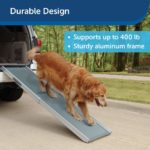 Link to getting dog out of vehicle with a ramp. Affiliate link to Amazon